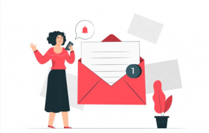 Reaching target audience with email graphic