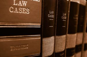 Books with law cases, attorneys contacts list